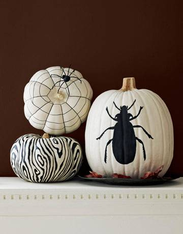 black-and-white-painted-pumpkins-5