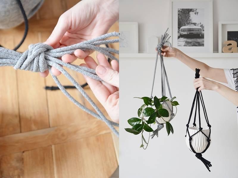 Diy Macrame Hanging Planter Scraperka